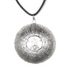* Sea Urchin Pendant (Sandollar) Leather (L)!