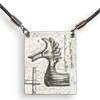 * Viking Ship Prow Pendant Leather (L)!